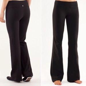 LULULEMON Athletic Black Boot Cut Yoga Pants 2